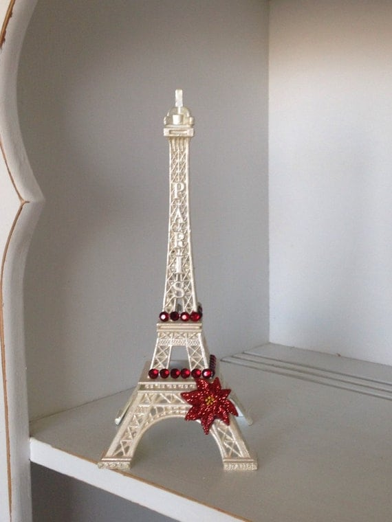 Christmas Decor Eiffel Tower Christmas Decorations Shabby