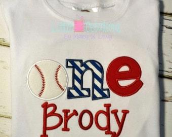 Baseball First Birthday Tee Shirt