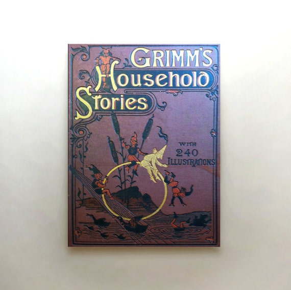 Children S Book Cover Canvas Art : Fairytale canvas art brothers grimm original by
