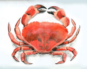 Red Crab Placemat, Set of Two, 12 x 18