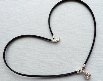 SALE - 50% off Sterling silver hollow ball necklace (017)