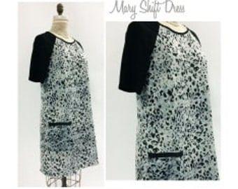 Mary Shift Dress - Sizes 10, 12, 14 - Women's shift dress PDF Sewing Pattern by Style Arc - Sewing Project - Digital Pattern