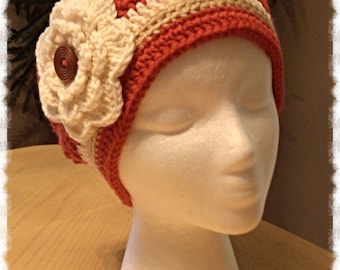 Ladies Slouch Hat * Size L * Colors: Rouge/Cream