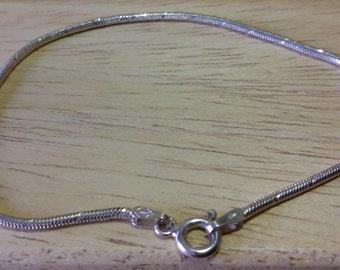 Braccialetto / cavigliera in argento 925, italiano, maglia modello, cobra.