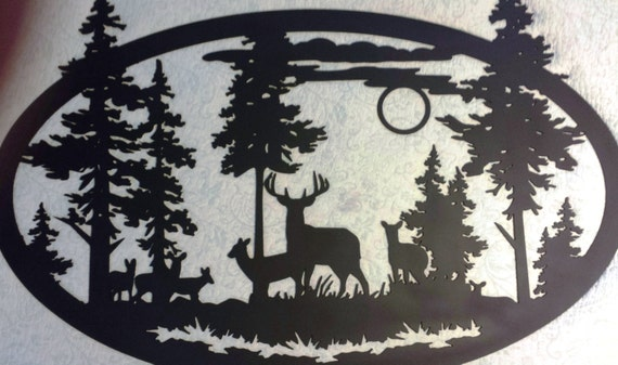 Personalized Metal Wall Art custom metal large oval deer scene wall art can be