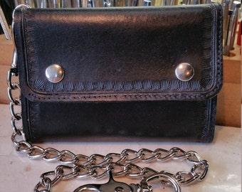 CHAIN Wallet,  Trifold biker / trucker chain wallet
