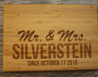 Last Name - Last Name Cutting Board - Last Name Gift - Personalized Wedding Gift - Personalized Cutting Board