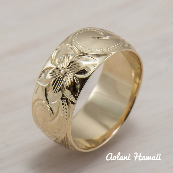 Traditional+Hawaiian+Wedding+Gift 14K Gold traditional Hawaiian Hand ...