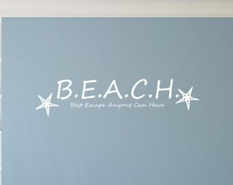 Beach Wall Decal Sticker