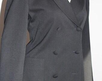 Black red hooded jacket REGINA RUBENS