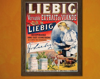 Liebig Meat Extract -  Vintage Kitchen Poster Beverage Drink Retro Wall Decor Office decoration Art Prin  t