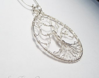Sterling Silver Wire Wrapped Tree Pendant
