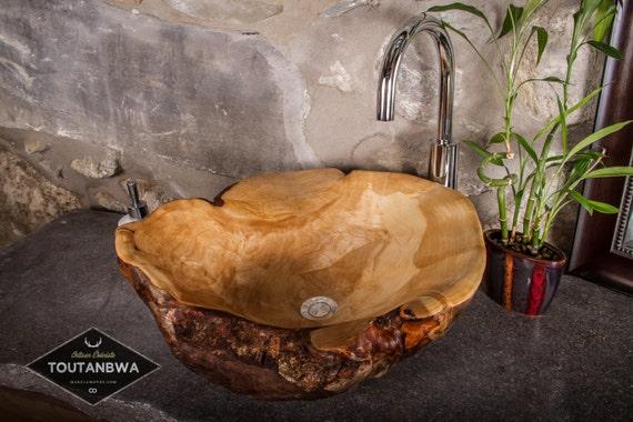 r serv pour denise taille moyenne lavabo vasque de bois. Black Bedroom Furniture Sets. Home Design Ideas