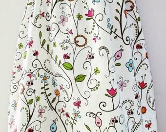 Floral Vine Strapless Tunic