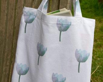 Tulip Design Cotton Canvas Book Bag