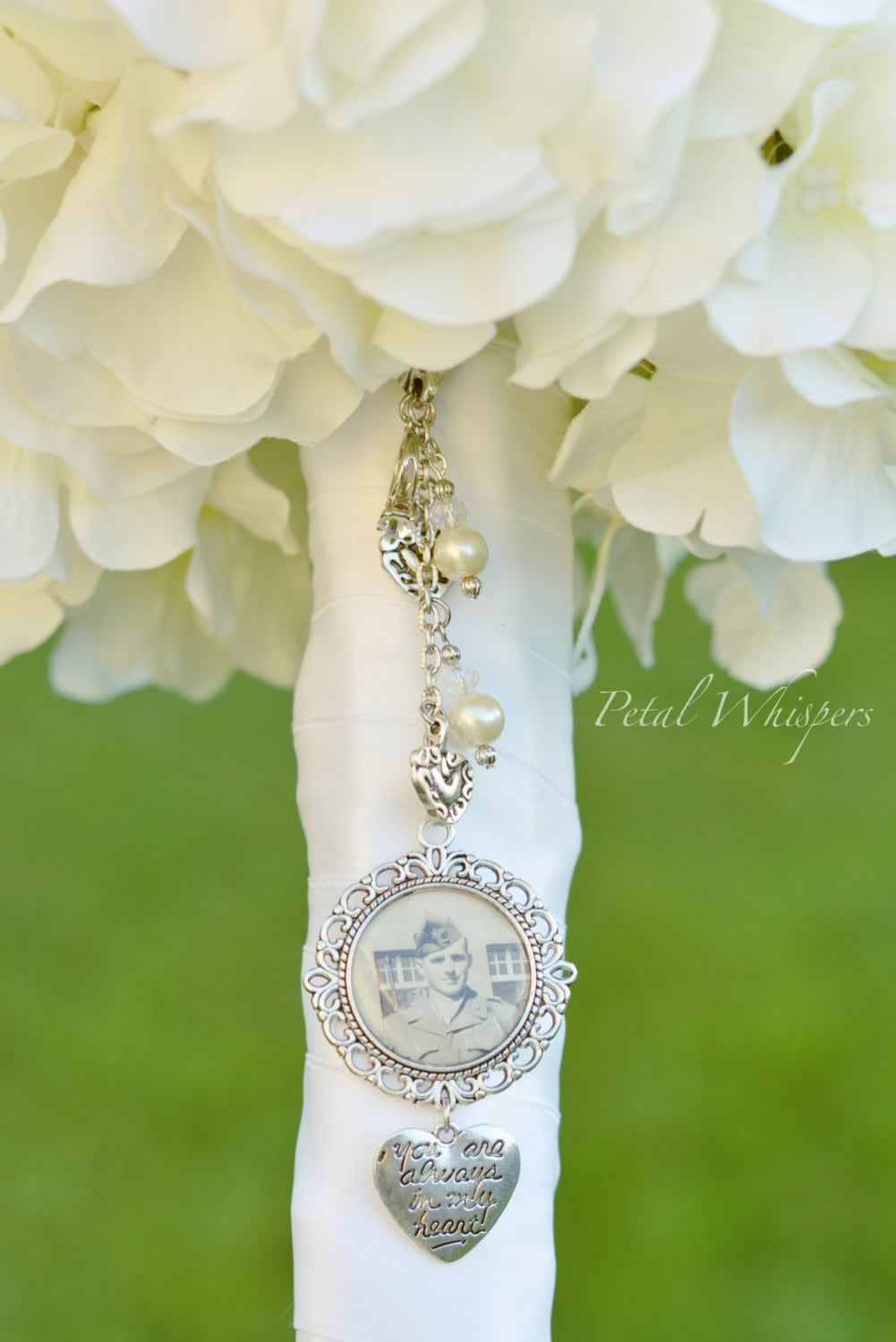 bridal bouquet memory charm wedding memorial photo charm