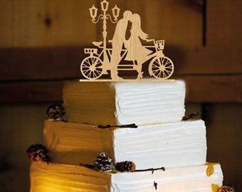 Bicycle Cake Topper - Cake Topper - cake topper Bicycle - monogram cake topper - birthday cake topper - wedding cake topper