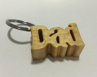 Wooden Key Chain - Pine - Dad