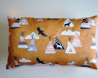 """Rectangle Cushion Cover """"Out on the plains"""""""