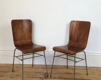 A Pair of toby stacking chairs by H Morris & co of glasgow