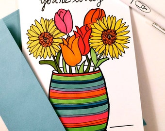 You're Lovely - A7 Greeting Card