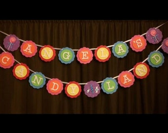 Candy Land Birthday Banner,Candyland Banner, Sweet Treats Birthday, Candy Shoppe, Lollipop, Sweet Shoppe