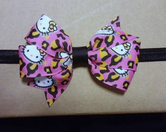 SALE! Hello Kitty Pink Leopard Headband or Clip