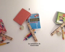 Stationery kit miniature-scale 1:12- dollhouse miniatures
