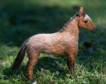 Horse needle felted wool handmade
