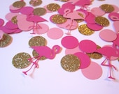 Flamingo Confetti | Flamingo Party | Hawaiian Party | Luau | Girls Birthday Party | Tropical Party | Paper Flamingos | Flamingo Die Cuts |