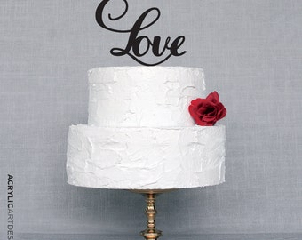 Love Cake Topper for Weddings by Acrylic Art Design/Acrylic Love Word-Classic Love