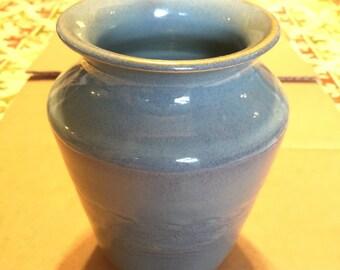 Beautiful Blue Rutile Vase by Carol Miller