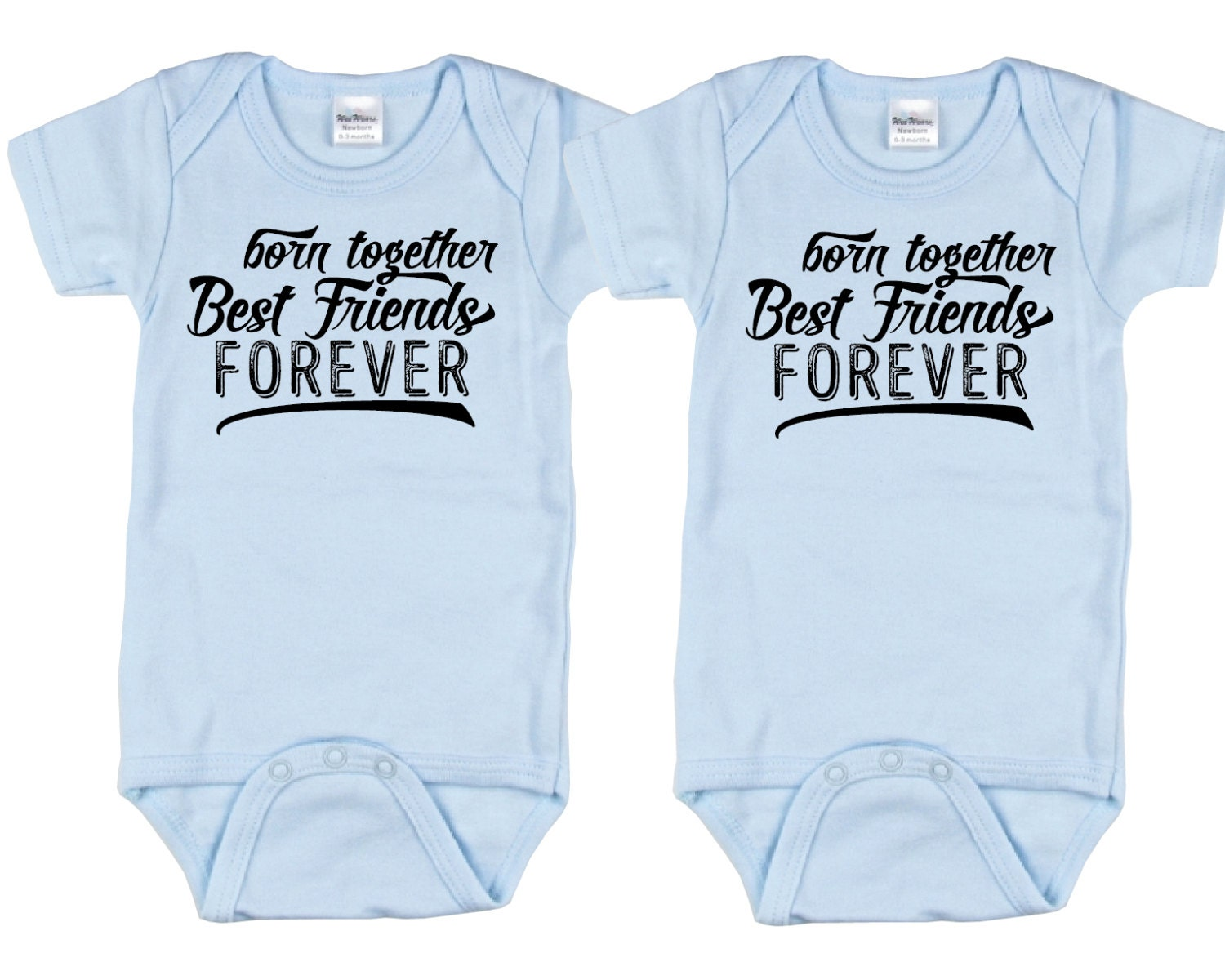 Cute Baby gift for twin boys Born Together Best Friends