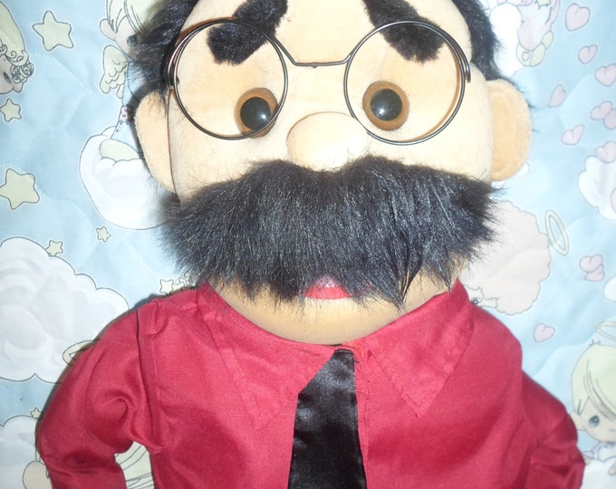 "Puppet - Large 30"" Full/Half Body Puppet for Professional Puppetry & Puppet Ministry - Dad, Pastor, or any Male Character Puppet"