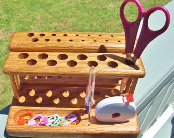 "The ""Twin"" Crochet Hook Organizer Workstation"