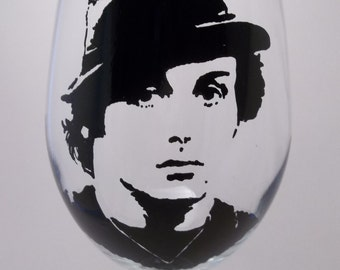 Rocky Balboa, Sylvester Stallone, Hand painted glass, Painted wine glass