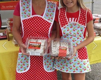 Mommy and Me Cherries and Dots Apron
