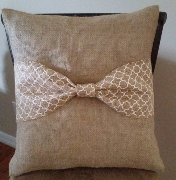 Decorative Burlap Pillow Covers : Decorative Pillow Cover Pillow Cover Decor Burlap Burlap