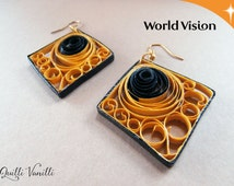 Paper Quilled Earrings, Charity, Proceeds To Charity, Paper Quilling Jewelry, Quilled Jewelry, Paper Quilling