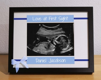 first time parents expecting parents ultrasound frame sonogram frame custom frame personalized gift new baby girl newborn gift