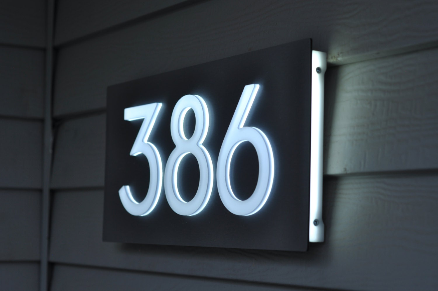 Custom aluminum acrylic led house numbers sign 5 tall Led house numbers
