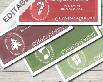 Christmas Coupon Template Printable (Ideal Stocking Filler For Kids)
