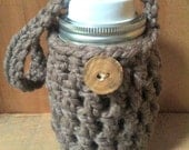 Mason Jar Cozy Jacket with Handle in Chunky Crochet THE HAVERHILL 3 sizes