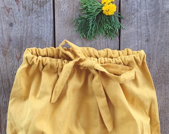 Mustard Bubble Shorts