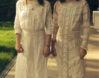 Stunning edwardian wedding dress 1900s titanic era