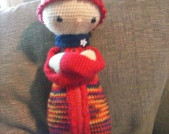 Handmade crochet doll rainbow amigurumi lalylala