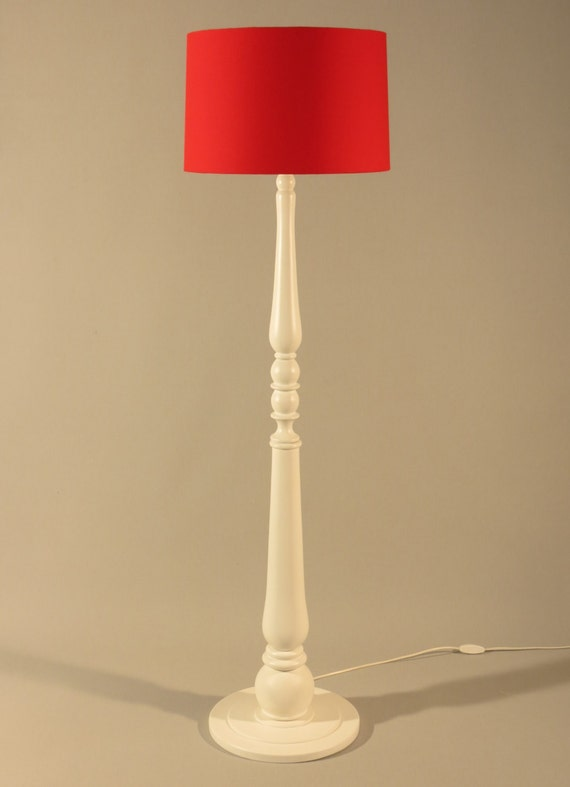 Handmade floor lampstylish wooden stand colored in by for Wooden floor lamp etsy