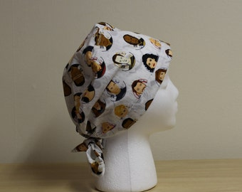 Star Trek Next Generation Cast Surgical Scrub Cap Dentist Chemo Hat