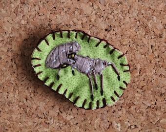 Elder Scrolls Morrowind Inspired Embroidered Scrib Pin