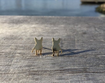 FRENCH BULLDOG EARRINGS! French bulldog lovers, Cute earrings, Stud earrings.